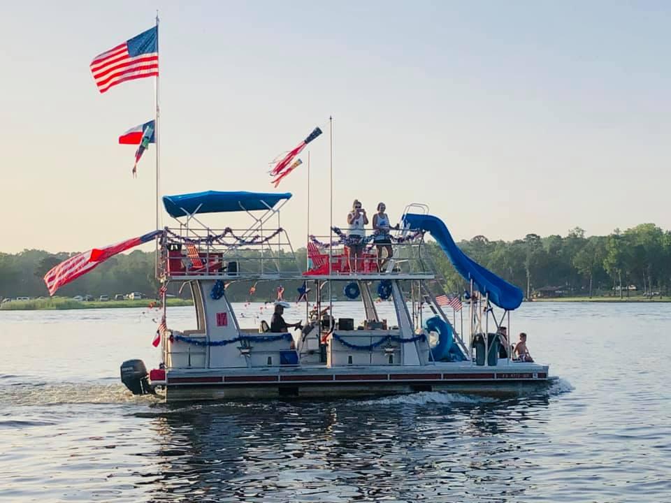 Lake Hawkins Boat Parade 2019