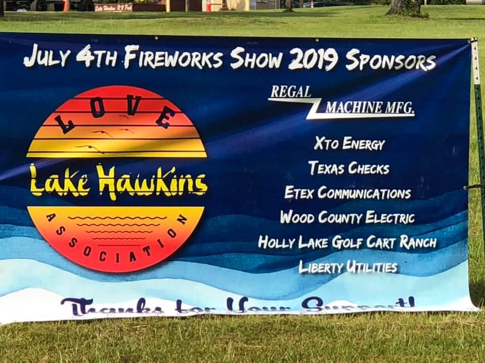 2019 Lake Hawkins Fireworks Sponsors
