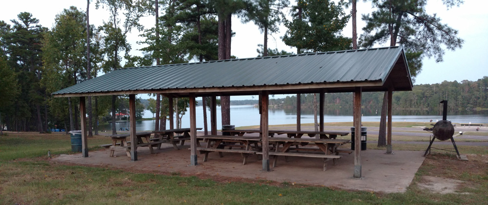 Pavilion at Lake Hawkins RV Park