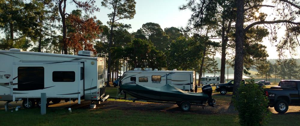 Lake Hawkins RV Park Busy