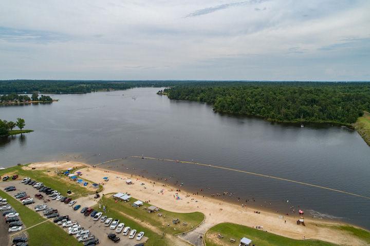 Pristine East Texas Beach on Beautiful Lake Hawkins