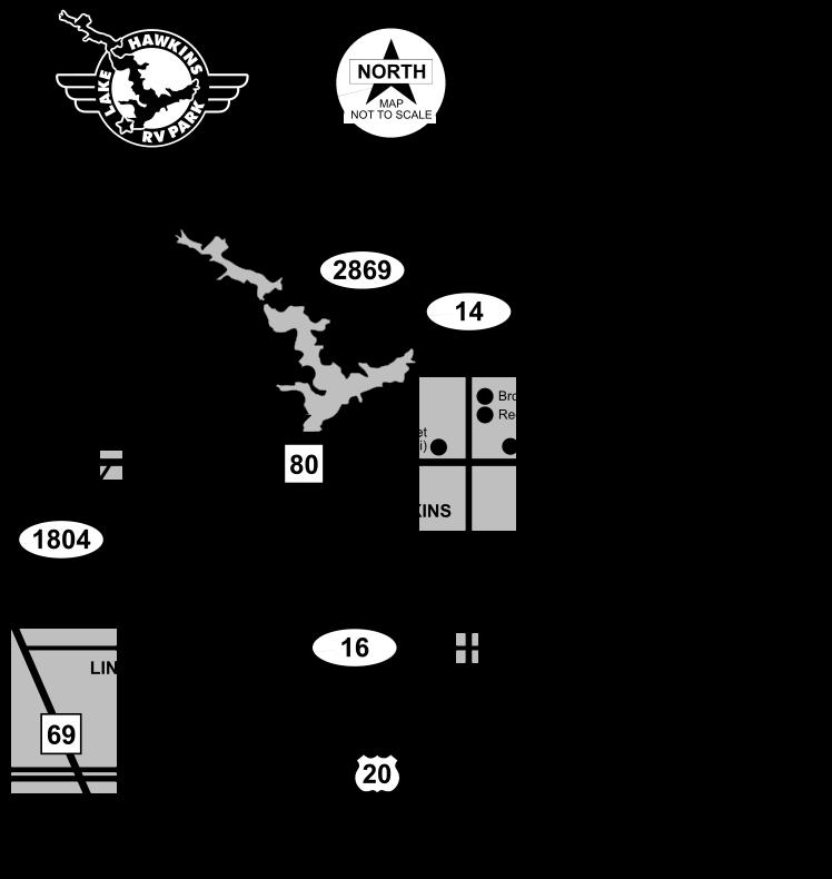 Lake Hawkins Area Map