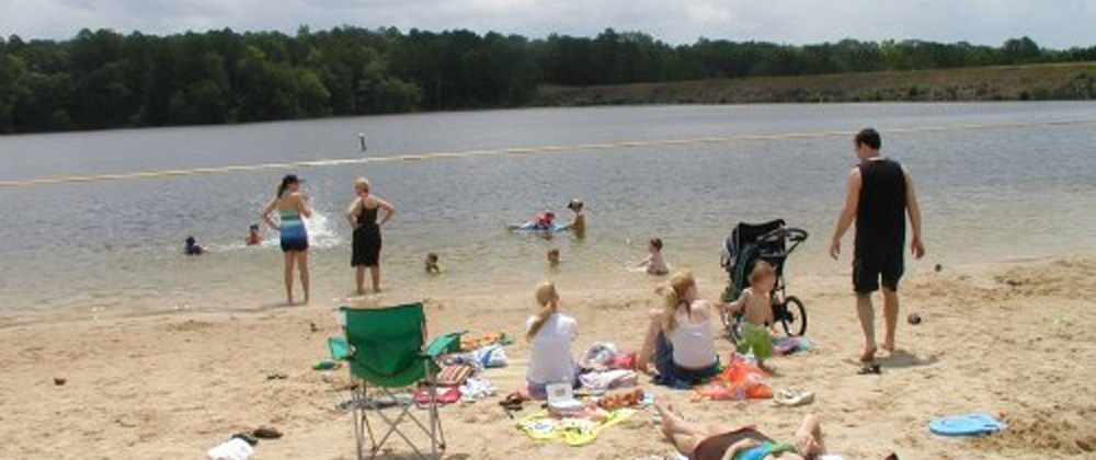 Beach at Lake Hawkins RV Park